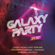 Galaxy Party Flyer Template - GraphicRiver Item for Sale