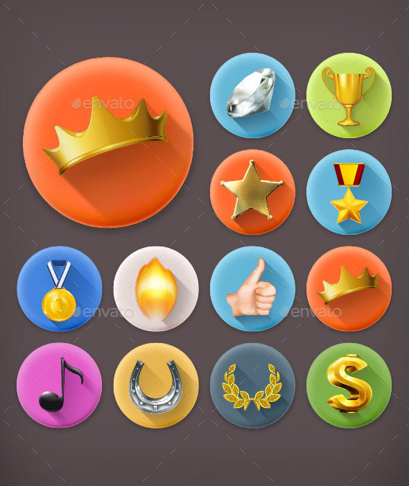 GraphicRiver Awards and Achievement Icons 11969461