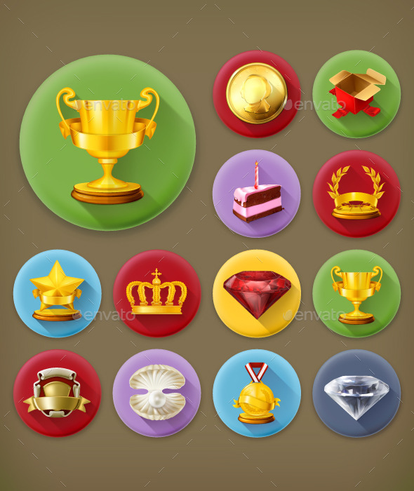 GraphicRiver Awards and Achievement Icons 11969478