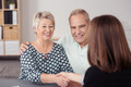 Senior Couple Shaking Hands with Financial Agent - PhotoDune Item for Sale