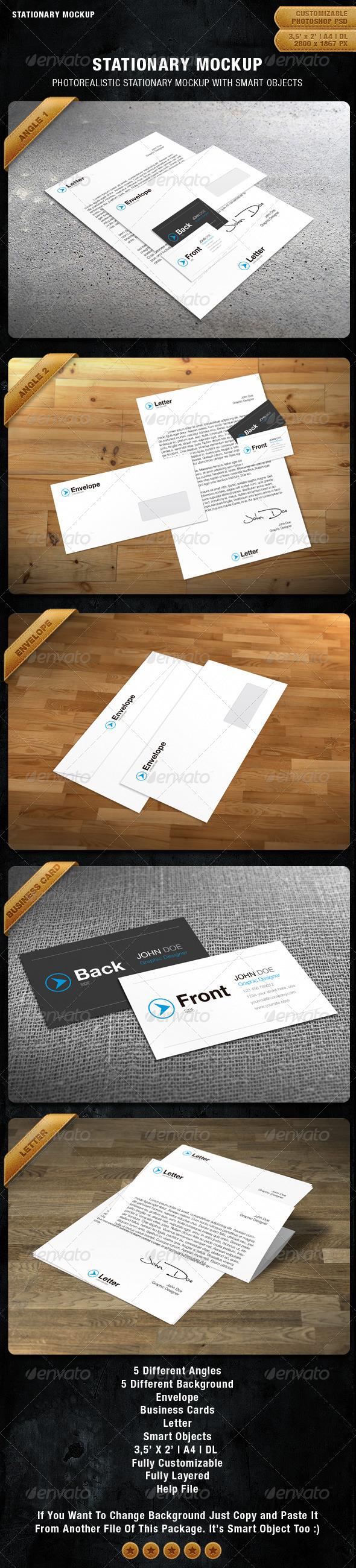 GraphicRiver Stationary Mockup 1201054