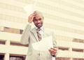 stressed frustrated man holding looking at documents - PhotoDune Item for Sale