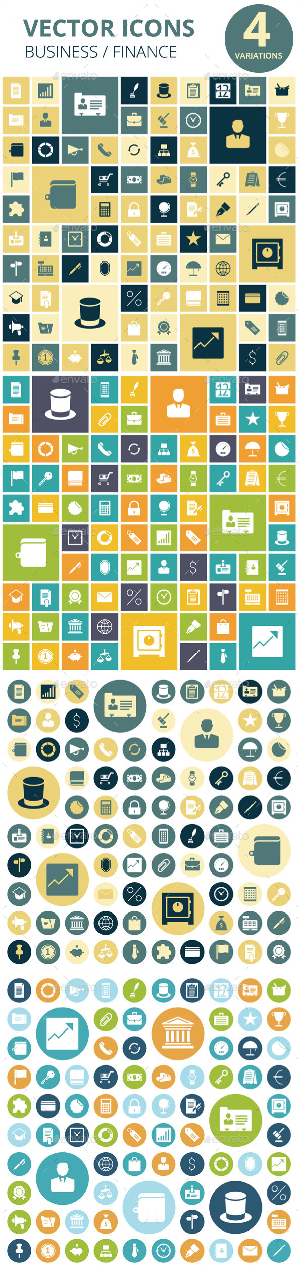 GraphicRiver Flat Design Icons for Business 11969737