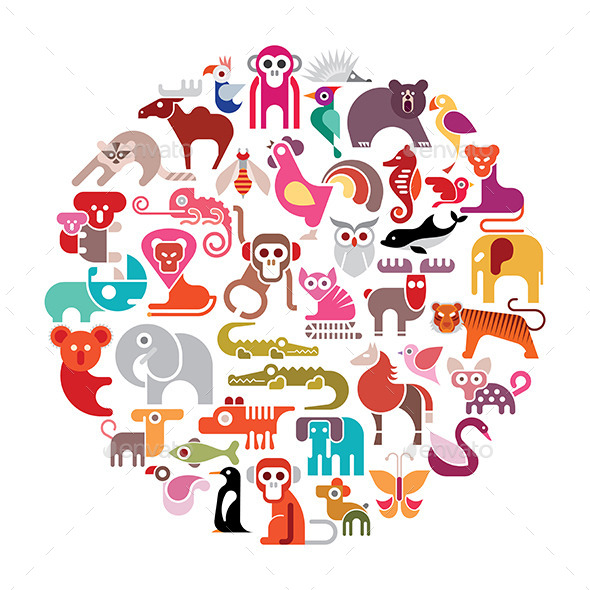 GraphicRiver Animal Round Illustration 11972611