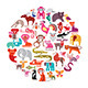 Animal Round Illustration - GraphicRiver Item for Sale