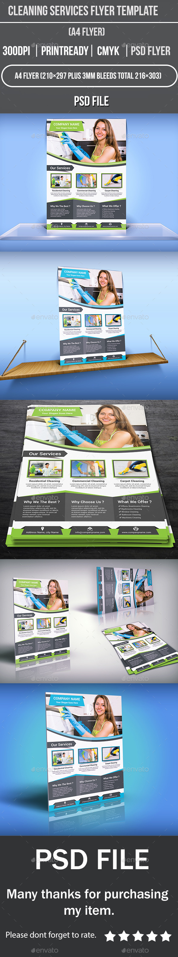GraphicRiver Cleaning Services Flyer Template 11973114