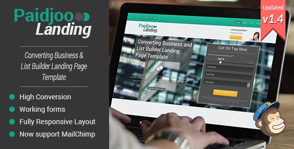 Paidjoo | Business & List Builder Landing Page