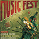 Music Festival Flyer Template V6 - GraphicRiver Item for Sale