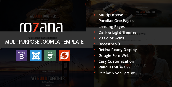 Rozana - Responsive MultiPurpose Joomla Template