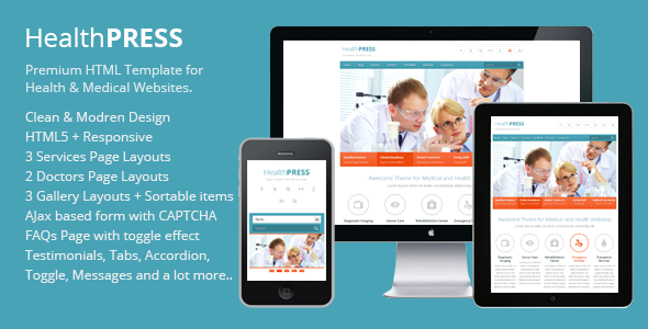 HealthPress - Health and Medical HTML Template
