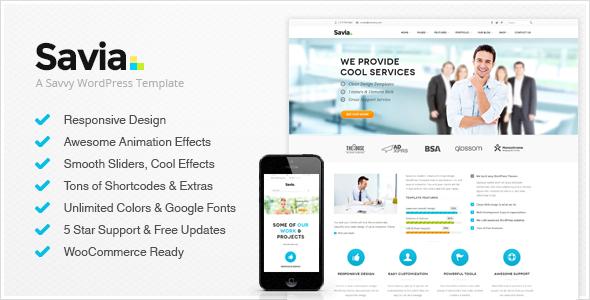 Savia - Responsive Multi-Purpose Wordpress Theme - Business Corporate