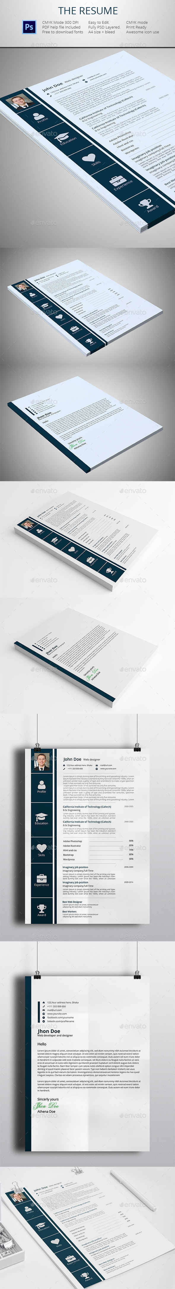 GraphicRiver The Resume 11974093