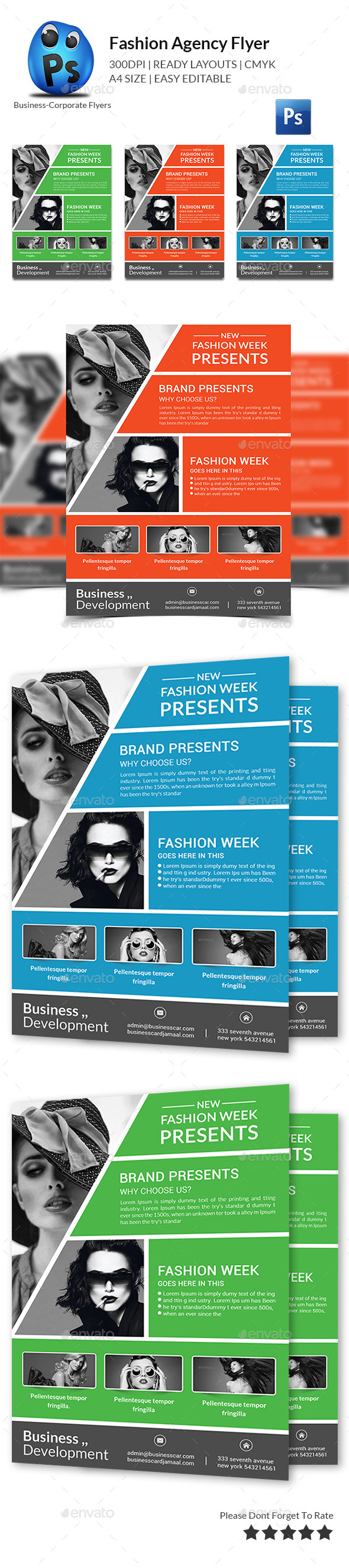 GraphicRiver Fashion Agency Flyer Print Templates 11974100