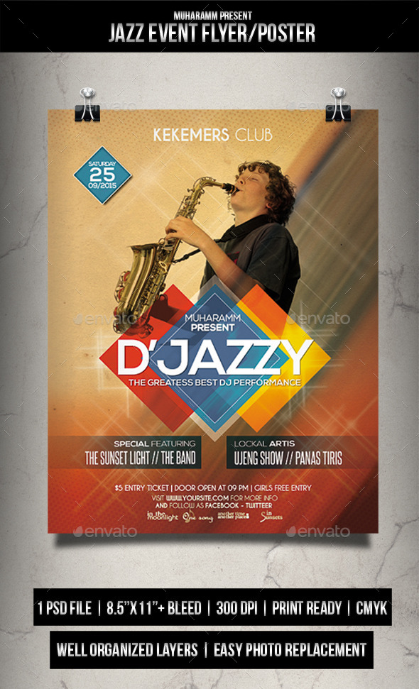 GraphicRiver Jazz Event Flyer Poster 11974357