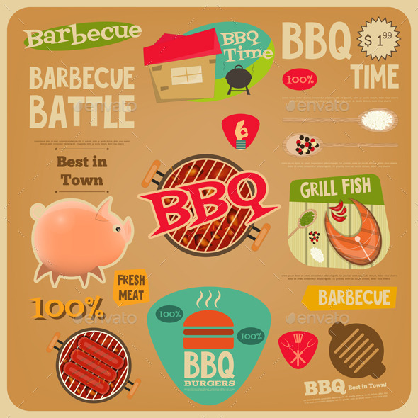 GraphicRiver BBQ Card 11974415