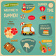 Summer Travel Card - GraphicRiver Item for Sale