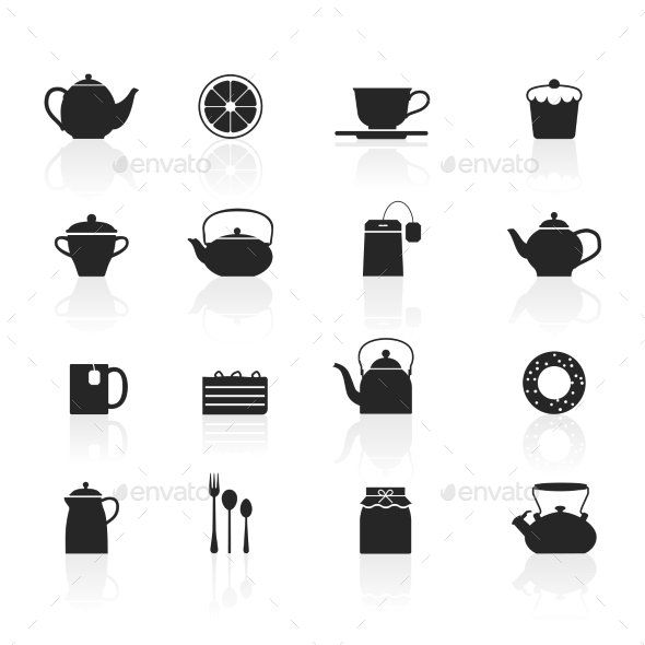 GraphicRiver Tea Icons Set 11974432