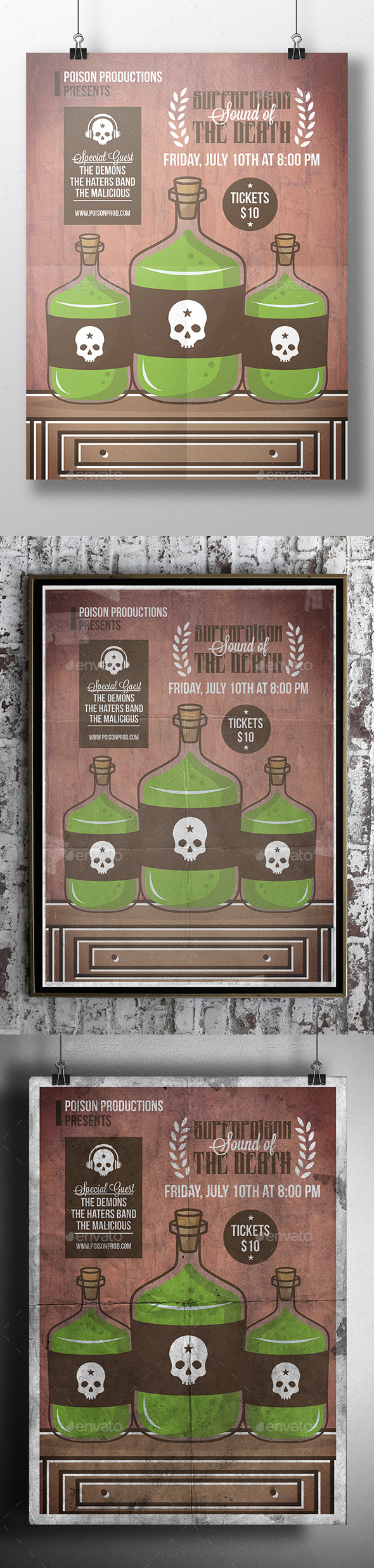 GraphicRiver Poison Bottle Flyer Template 11974444