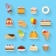 Sweets Flat Icons - GraphicRiver Item for Sale