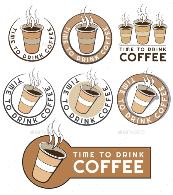 GraphicRiver Disposable Coffee Cup Design with Text 11974474