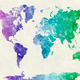 World map in watercolor 14 - PhotoDune Item for Sale