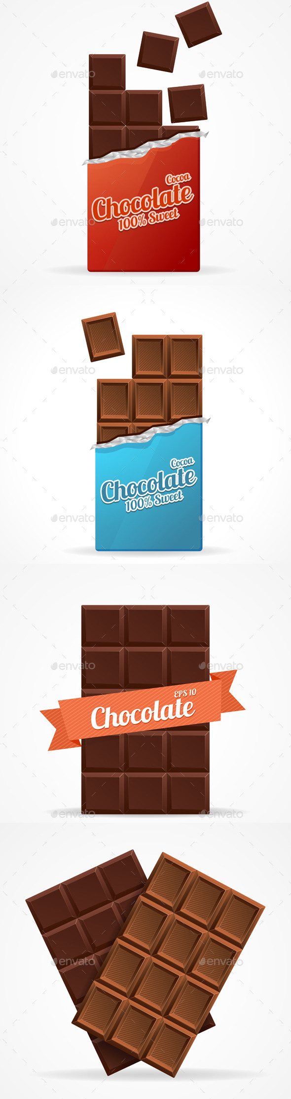 GraphicRiver Dark and Milk Chocolate Bar 11974684