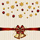 Christmas Bells on White Knitted Pattern - GraphicRiver Item for Sale