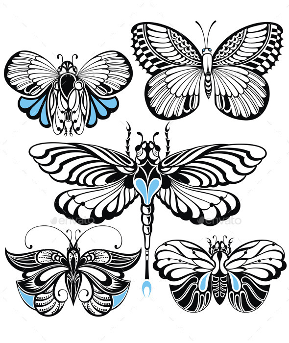 GraphicRiver Butterfly Set 11974964