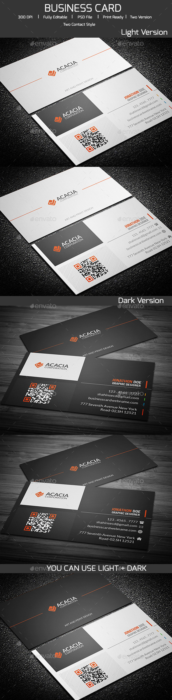 GraphicRiver ACACIA Simple Business Card V-02 11974971