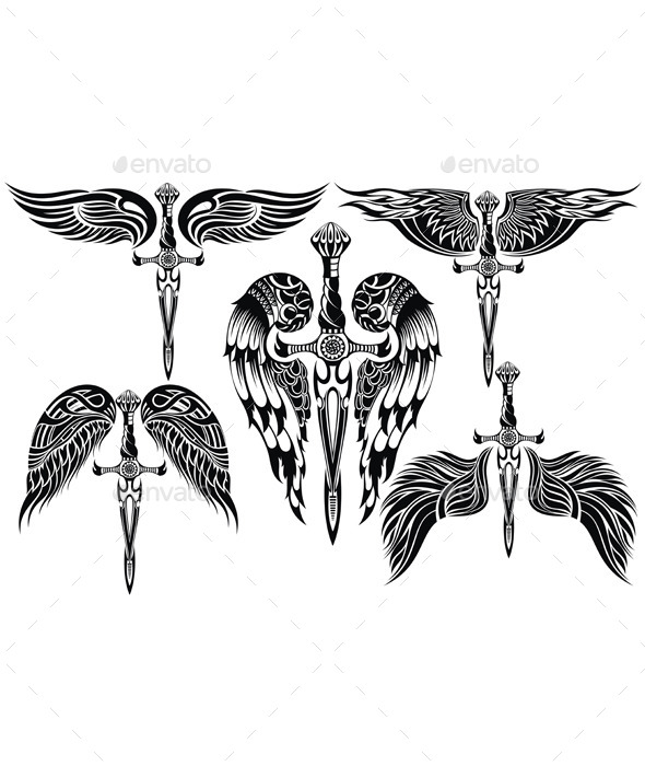 GraphicRiver Wings and Sword Big Set 11975007