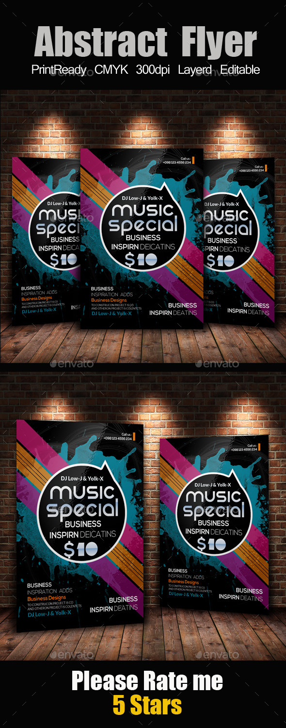 GraphicRiver Creative Abstract Flyer Template 11975012