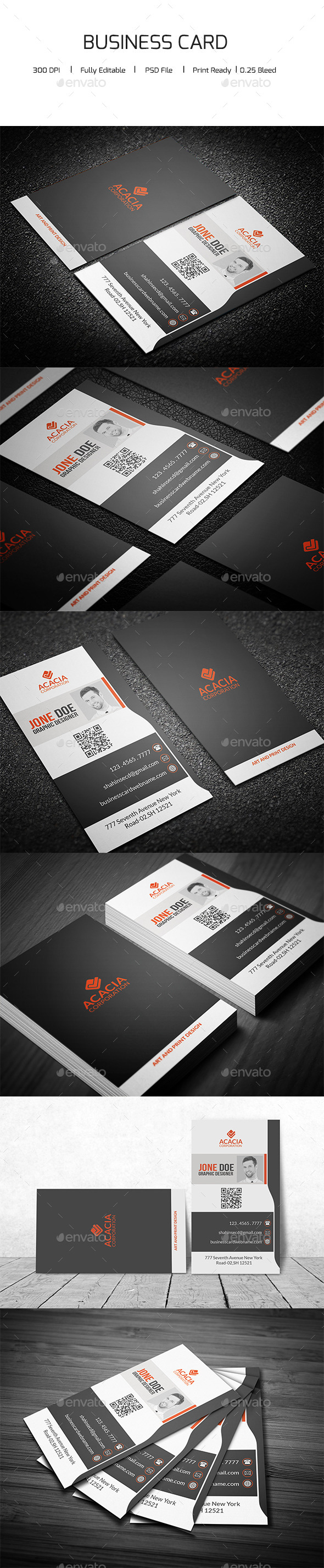 GraphicRiver Creative Vertical Business Card 11975025