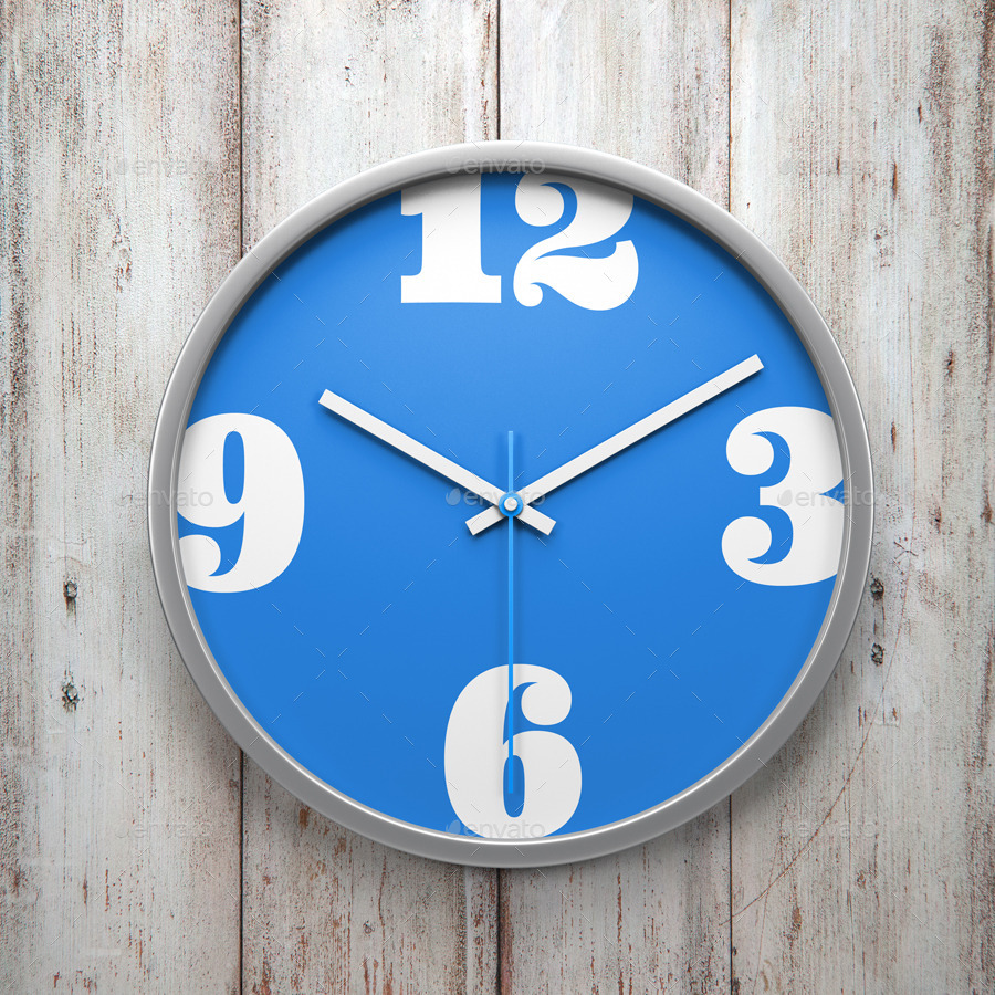 Wall Clock Mock Up By Alsdesignlda Graphicriver
