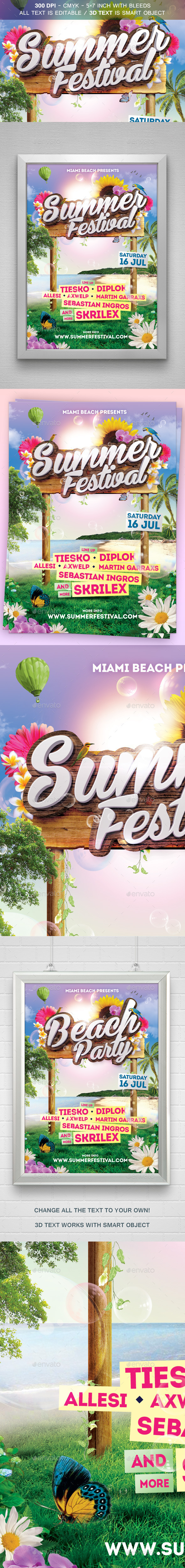 GraphicRiver Summer Festival Flyer 11975145