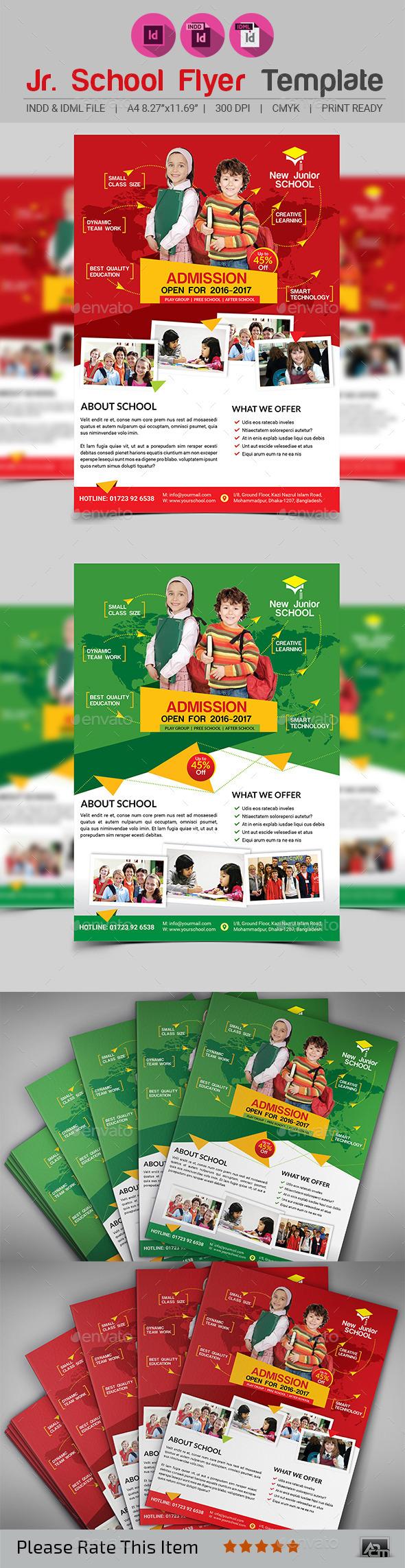 GraphicRiver Junior School Promotion Flyer 11974707