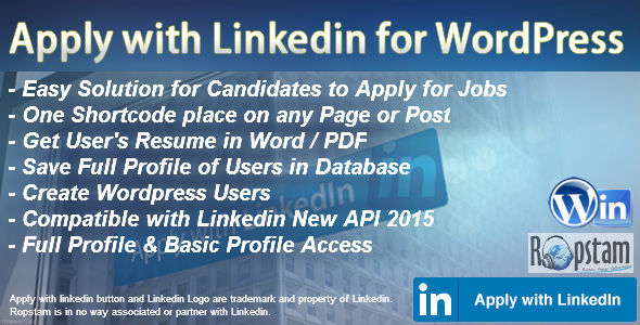 CodeCanyon Apply with Linkedin For Wordpress 11920968