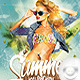 Flyer Summer Sexy Light Show Party - GraphicRiver Item for Sale