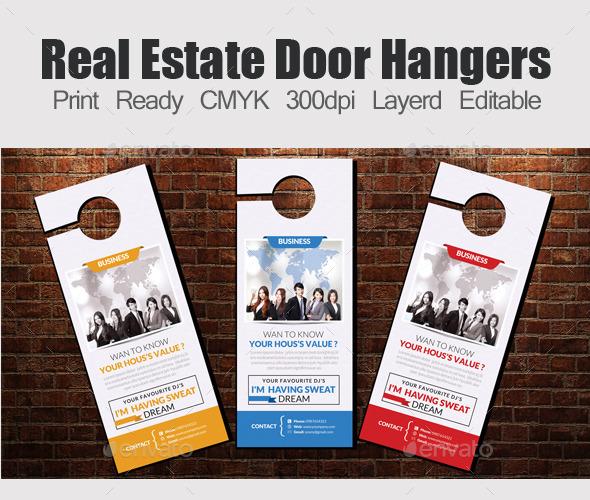 GraphicRiver Corporate Door Hangers Template 11975291