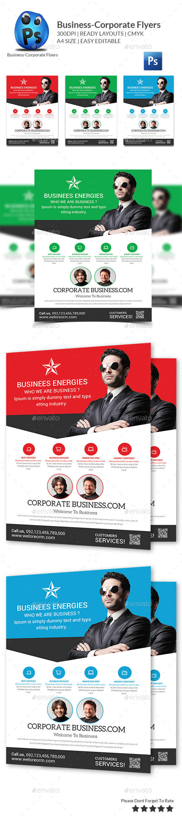 GraphicRiver Business Planner Flyers Templates 11975518