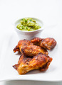 Grilled chicken wings with guacamole - PhotoDune Item for Sale