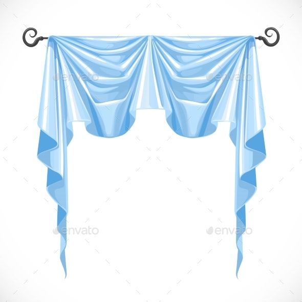 GraphicRiver Blue Curtains 11975608