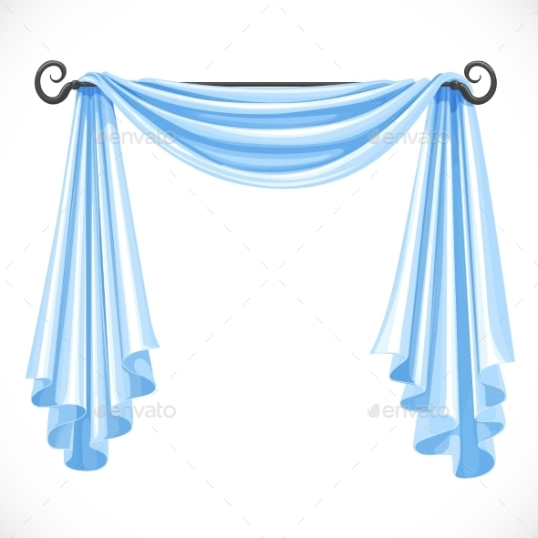 GraphicRiver Blue Curtains 11975611