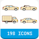 33 Car Body Types Icon Set