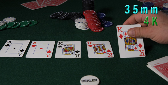Player Showing Poker Cards 08