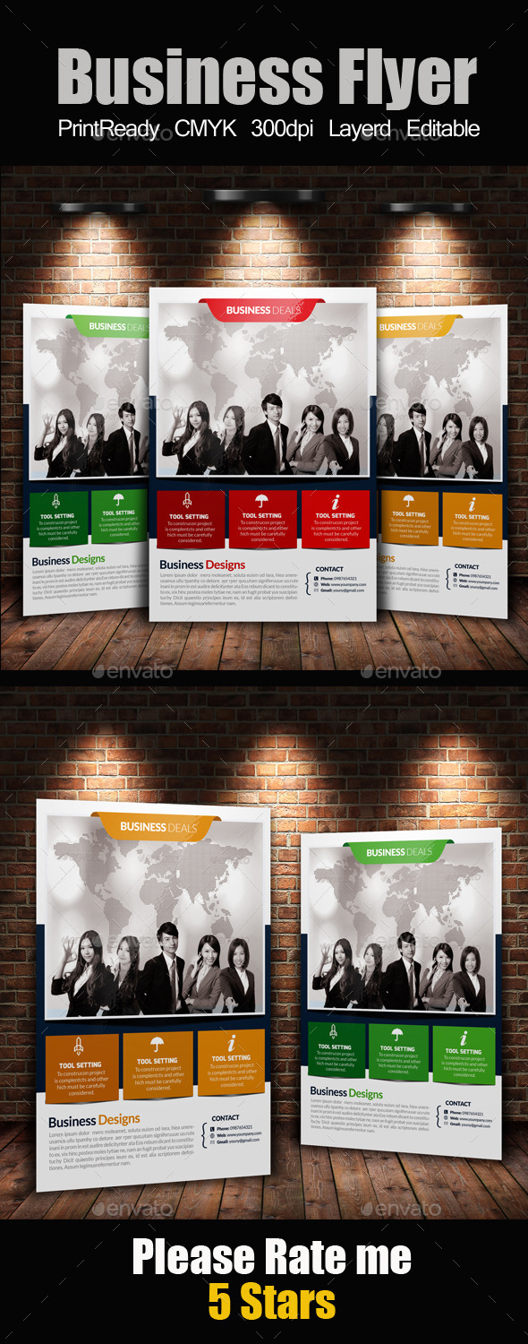 GraphicRiver A4 Business Flyer Template 11975626