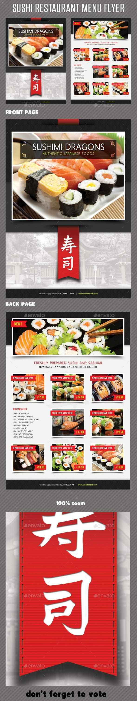 GraphicRiver Sushi Restaurant Menu Flyer V06 11975694
