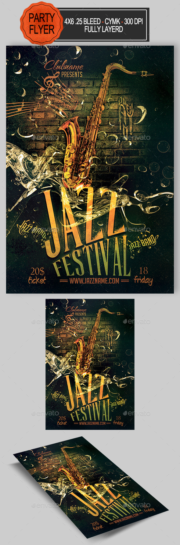 GraphicRiver Jazz Flyer 11976543