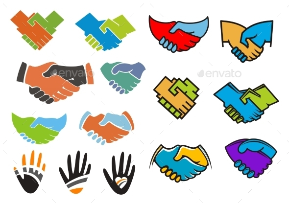GraphicRiver Colorful Partnership And Friendship Symbols 11976921