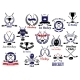 Ice Hockey Sport Game Heraldic Emblems - GraphicRiver Item for Sale