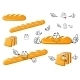 Long Loaf, Baguette And Toast Bread Characters - GraphicRiver Item for Sale